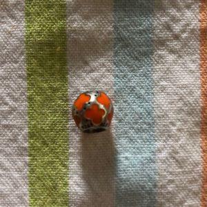 🌟3/$50 Pandora Enamel orange oval charm
